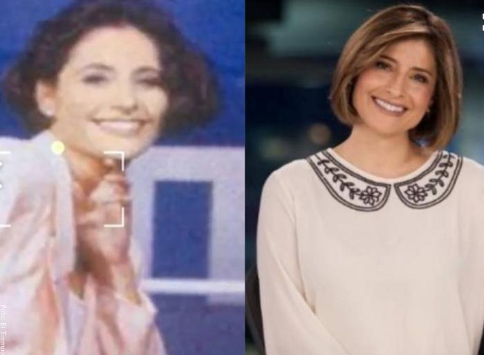 Foto antes y después de María Lucía Fernández