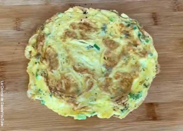 Foto de una tortilla de huevo