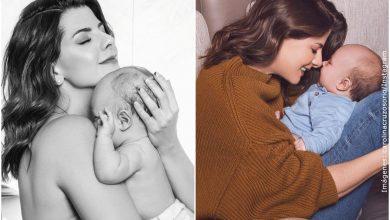 Caro Cruz explicó por qué debe ponerle cintas a su bebé en las manos