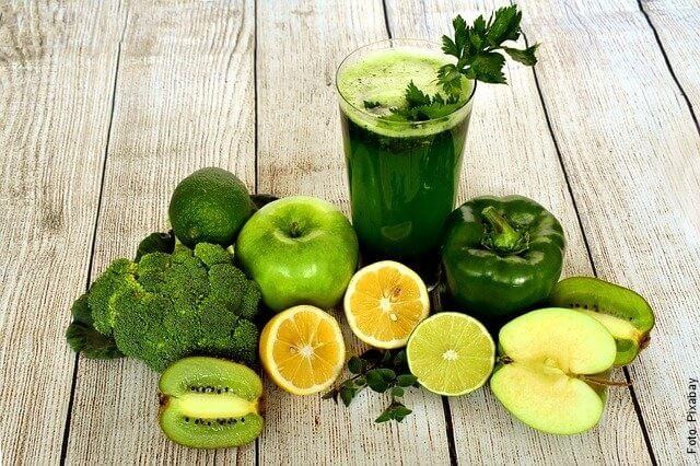 foto de jugos verdes