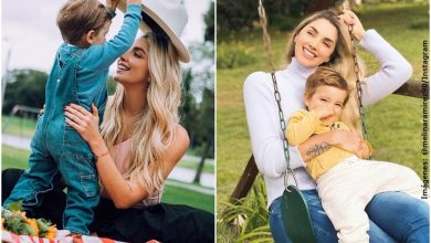 Lluvia de críticas a Melina Ramírez por besar a su hijo en la boca