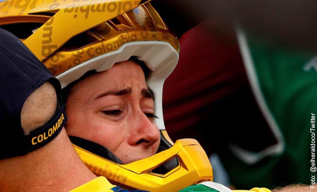 Mariana Pajón ganó tercera medalla olímpica y rompió en llanto