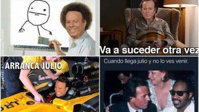 Memes de Julio Iglesias inundan las redes por inicio del nuevo mes