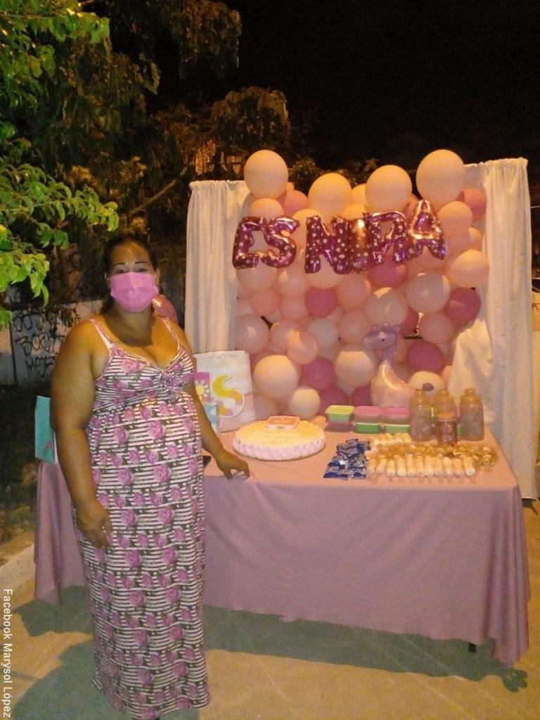 Publicación de agradecimiento de Marysol a quienes fueron a su baby shower