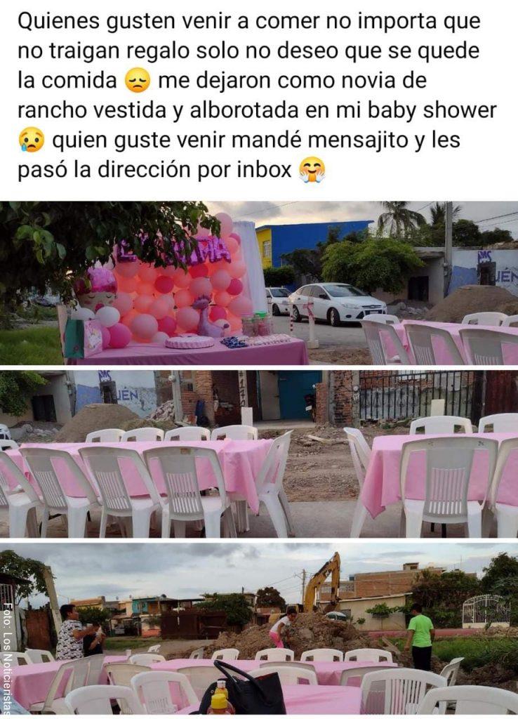 Publicación de Marysol invitando a que llegaran a su casa para comer lo que había preparado para su Shower