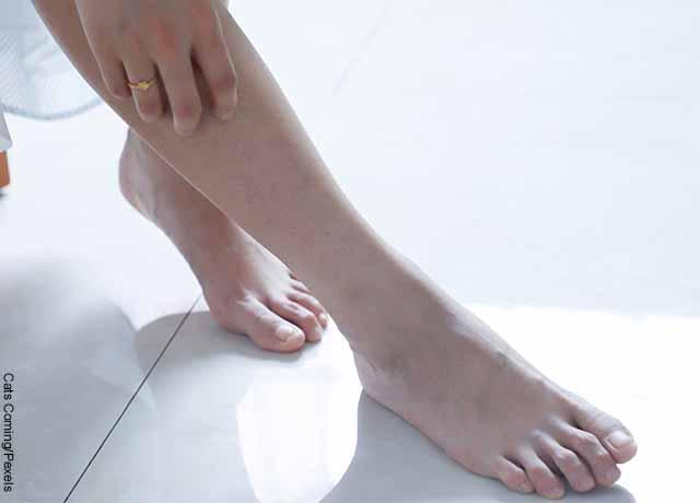 Foto de las piernas de una mujer
