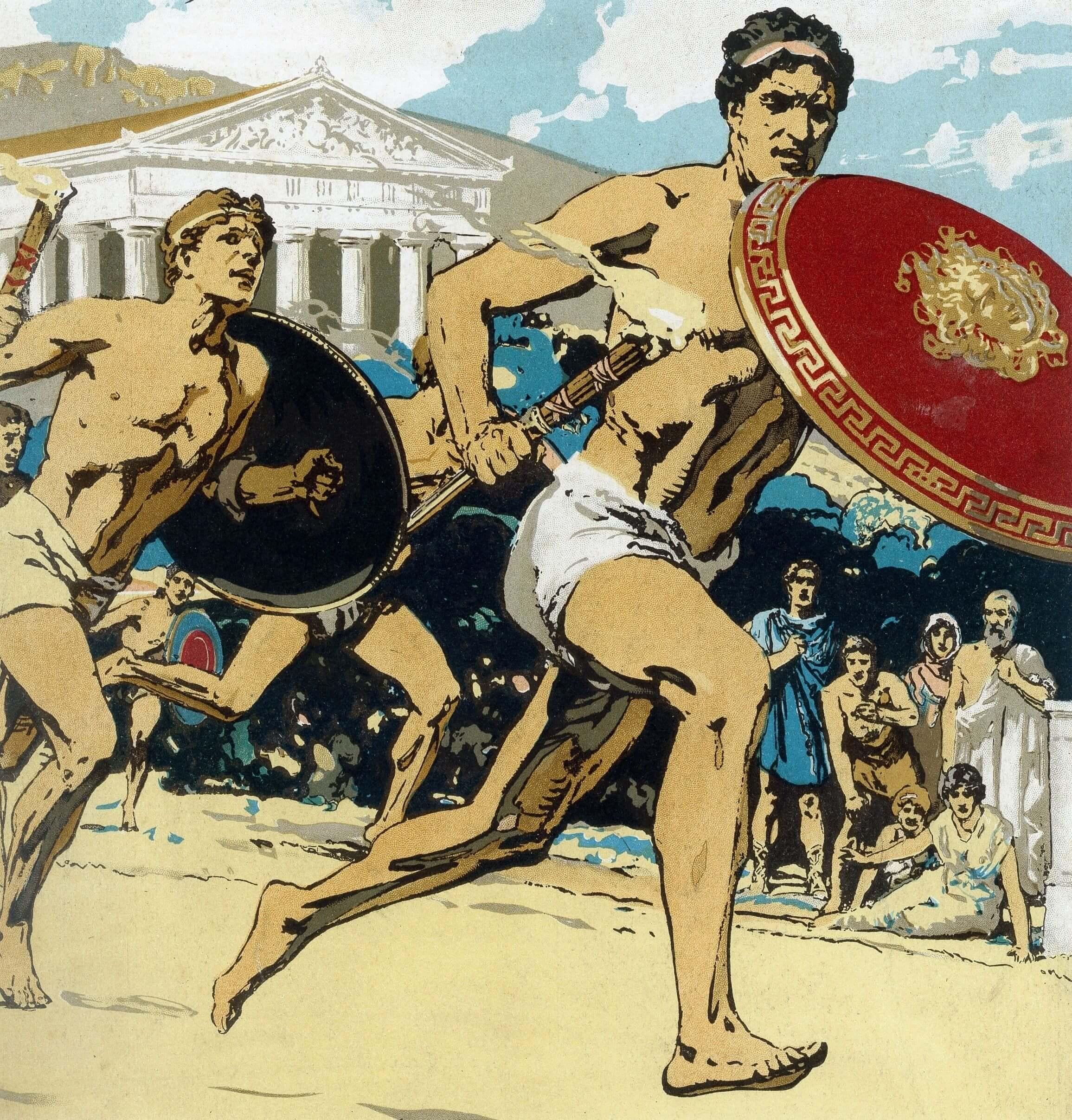 Ilustración de los Antiguos Juegos Olímpicos