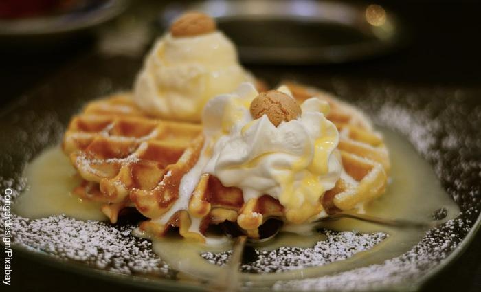 Foto de waffles