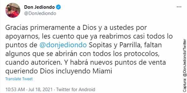 ¡Se internacionalizó Don Jediondo! Ahora estará presente en Miami