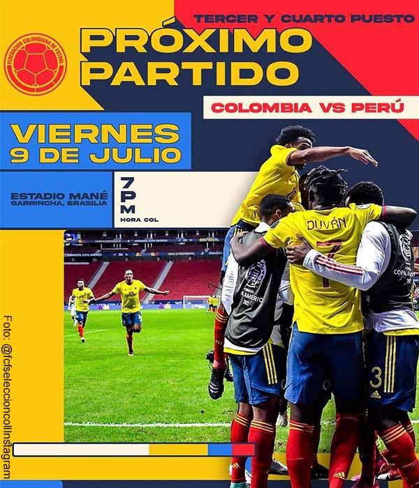 Selección Colombia ganaría jugoso premio si queda tercera en Copa América
