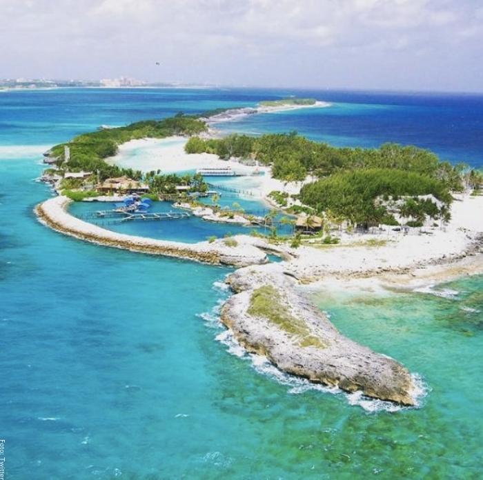 Foto de la isla donde está de vacaciones Shakira