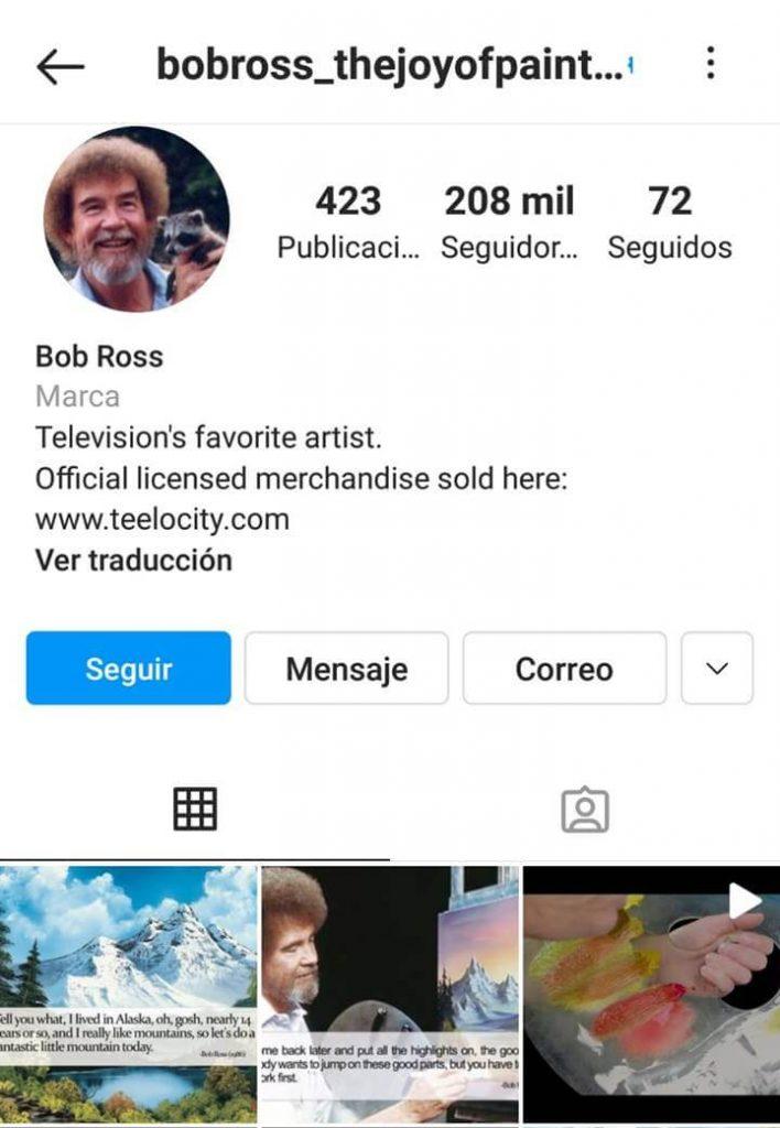 Print de Instagram