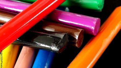 Foto de barras de plastilina de colores