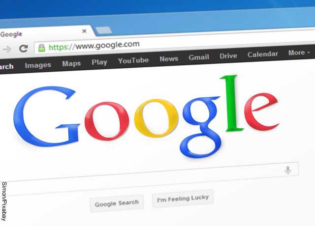 Foto de la tipografía de la página de Google