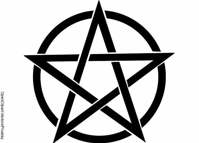 Foto de un símbolo que muestra qué significa la estrella de 5 puntas