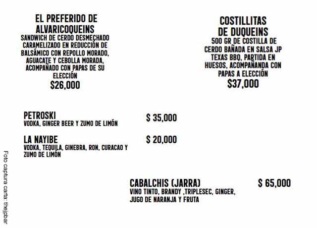Restaurante de Alejandro Riaño ofrece platos con nombres de políticos