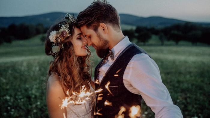 Foto de una pareja recién casada