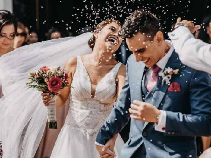 Foto de pareja casada
