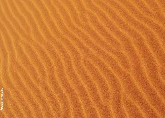 Foto de una duna en el desierto