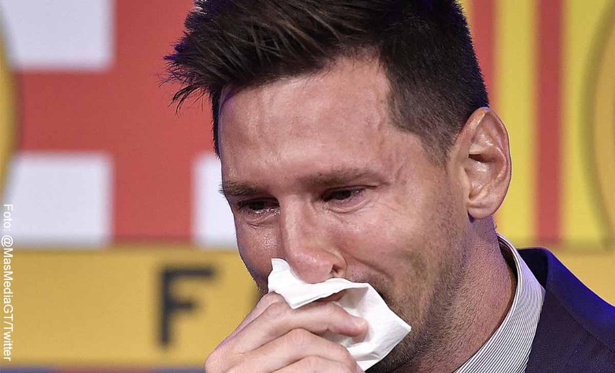 Subastan pañuelo en el que lloró Messi cuando se fue del Barcelona