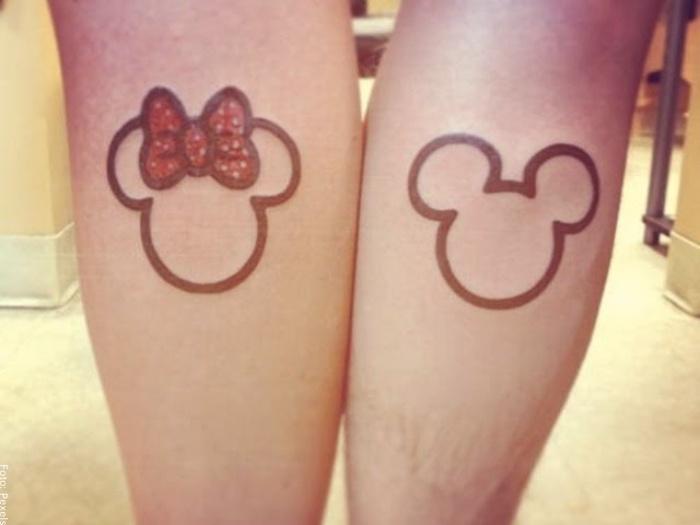 Foto de tatuaje minnie y mickey