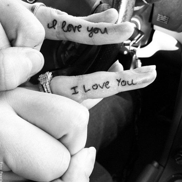 Foto de tatuaje i love you