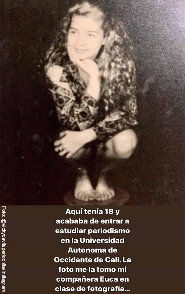 Vicky Dávila reveló varias fotos de cuando era adolescente