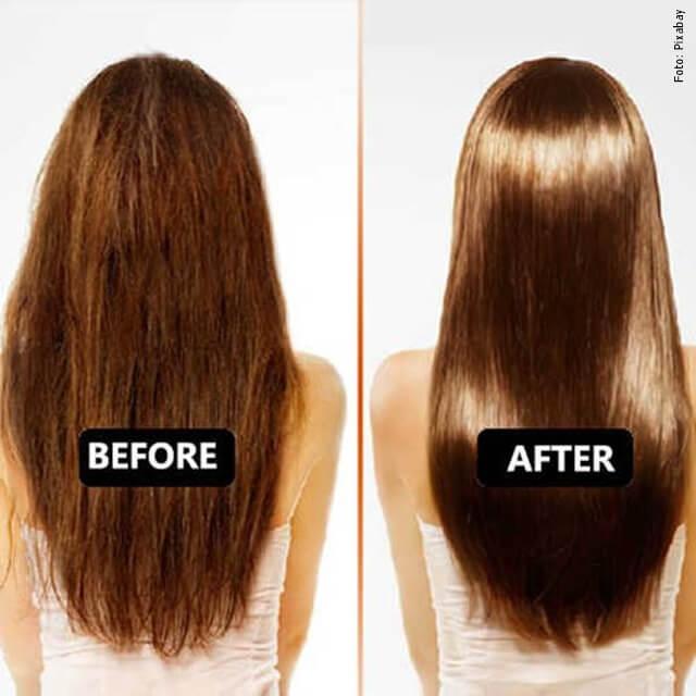 foto de cabello antes y después