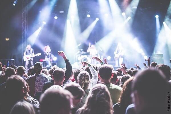 foto en un concierto