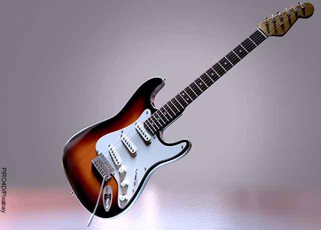 Foto de una guitarra eléctrica