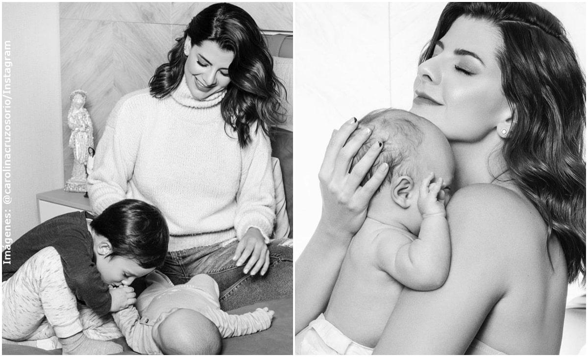 Caro Cruz desmintió rumores de supuesta cirugía de su bebé con tierna imagen