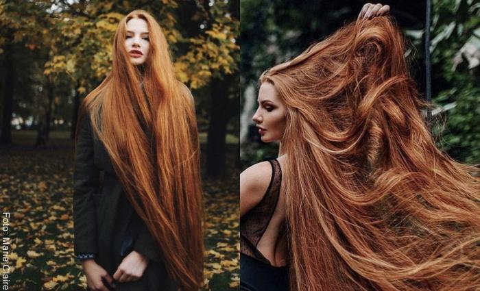 Foto de mujer con pelo largo