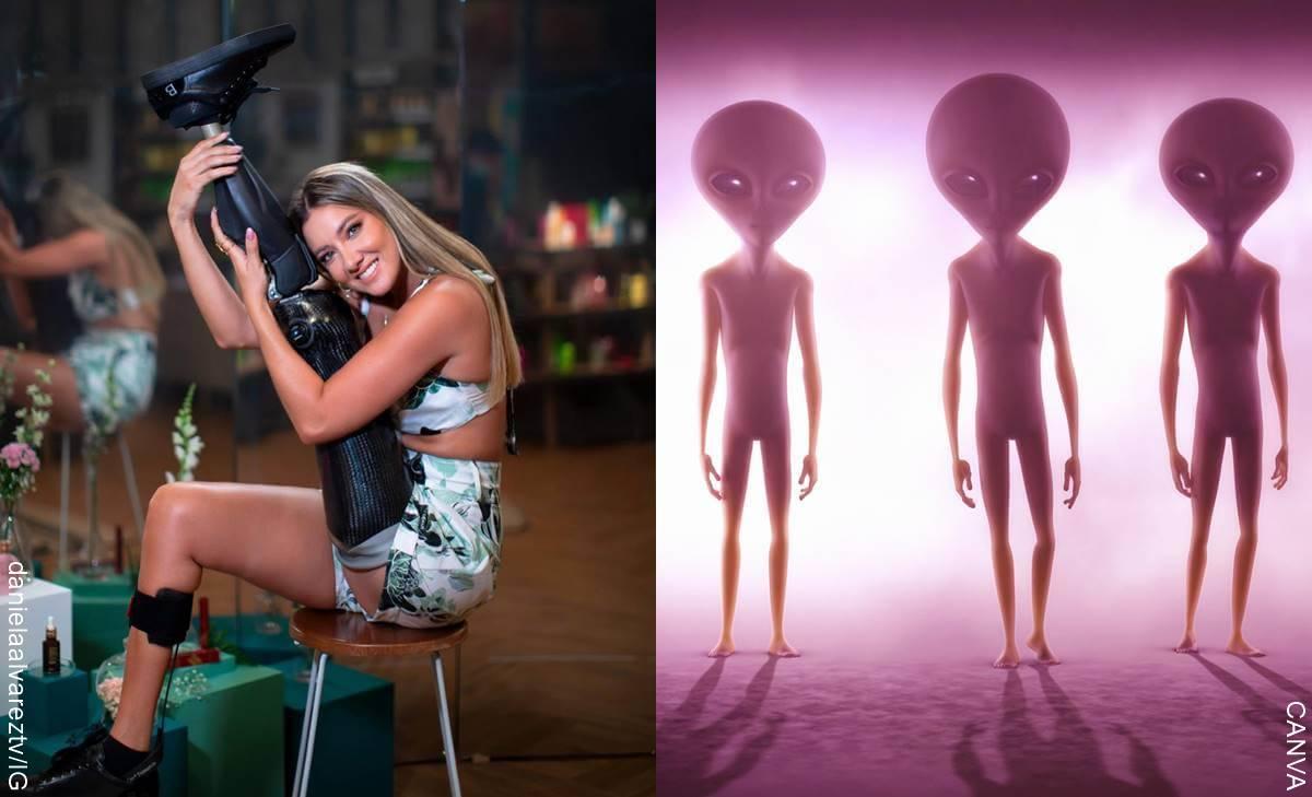 Daniella Álvarez vio un alien y relató su experiencia