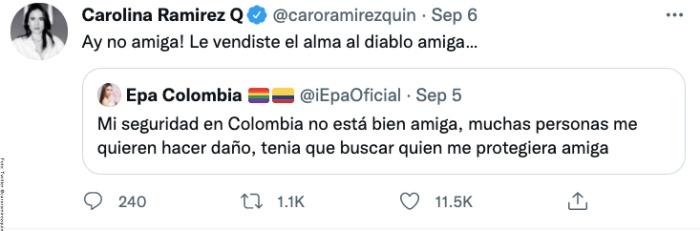 La advertencia que 'La Reina del Flow' le hizo a Epa Colombia