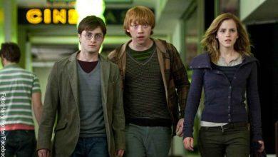 Foto de los tres protagonistas de Harry Potter