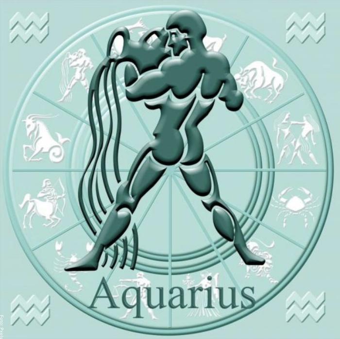 Foto del simbolo de signo acuario