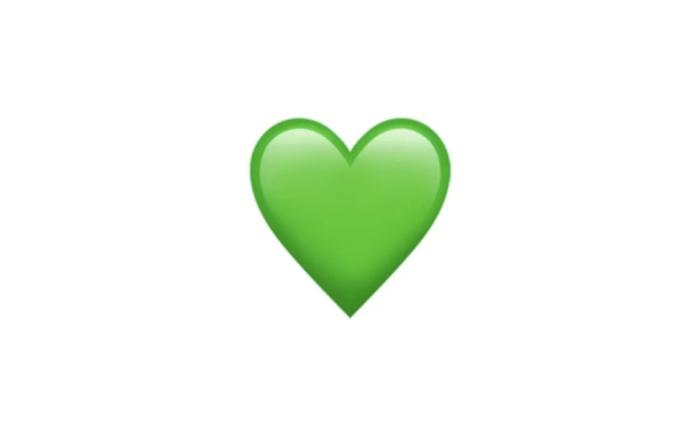 Foto de corazón verde