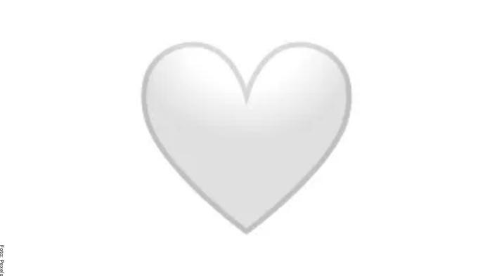 Foto de corazón blanco