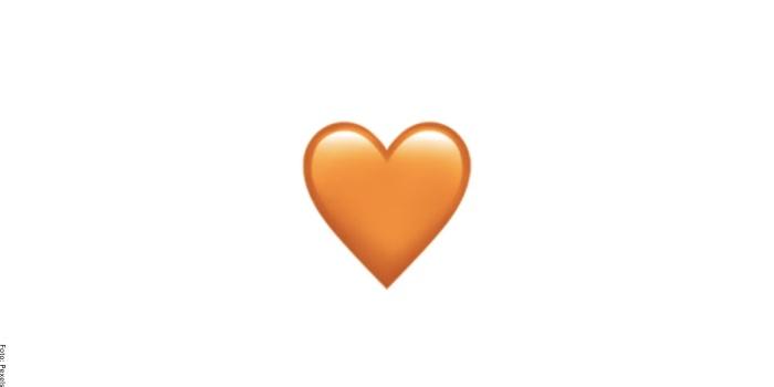 Foto de corazón naranja