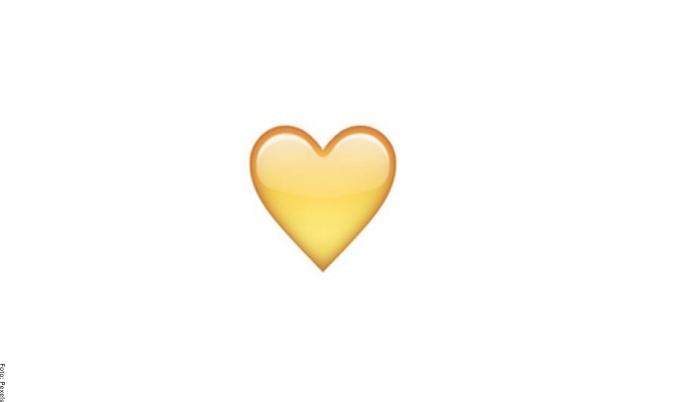 Foto de corazón amarillo