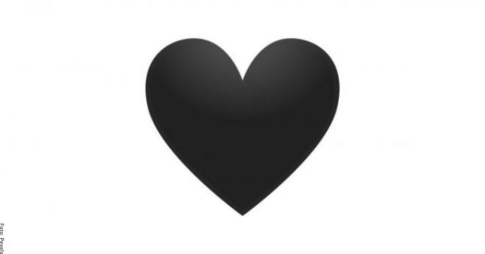 Foto de corazón negro