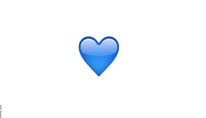 Foto de corazón azul