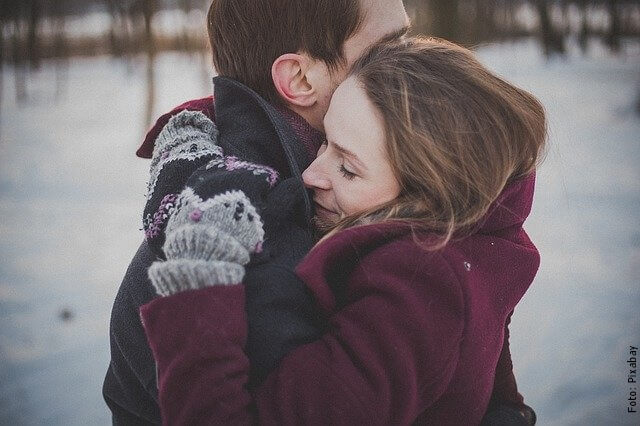 foto de abrazo