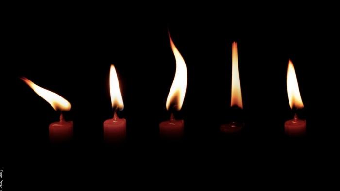 Foto de flamas de velas