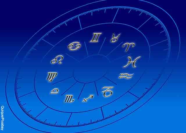 Foto de una ilustración con los 12 signos del Zodiaco