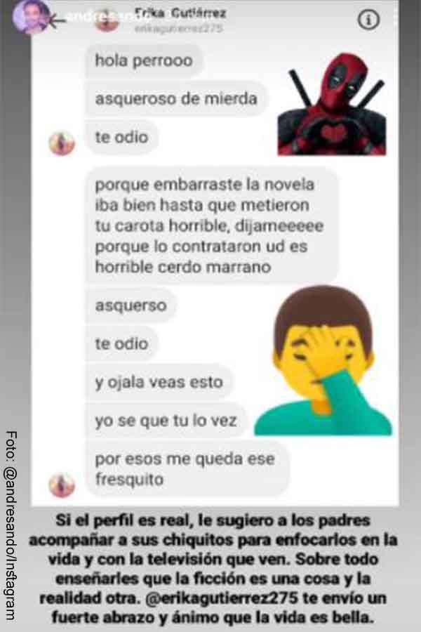 Televidente de La reina del flow envió a Andrés Sandoval mensaje agresivo