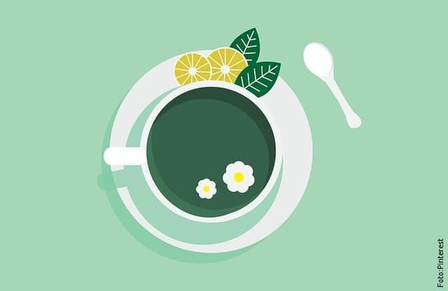 ilustración de té verde