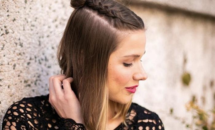 Foto de mujer con cabello corto