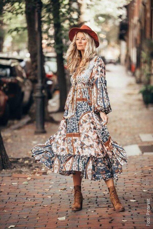 foto de mujer con vestido