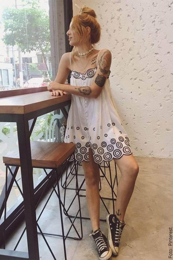 foto de vestido blanco